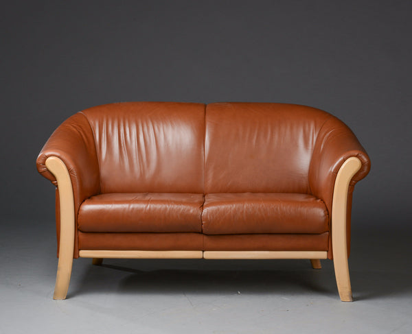Leather Loveseat by Stauby