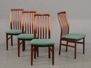 Stained Beech Dining Chairs by Schou Andersen