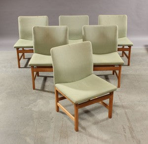 Collection of Matching Model 231 Oak Dining Chairs by Borge Mogensen