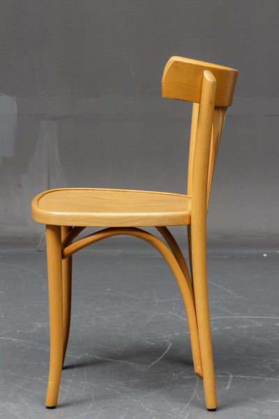 Side View of Beech Wooden Chair