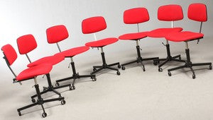 Red Danish Office Chairs