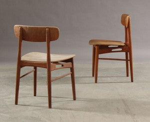 Dining Chairs by Ib Kofod-Larsen in Teak and Beech