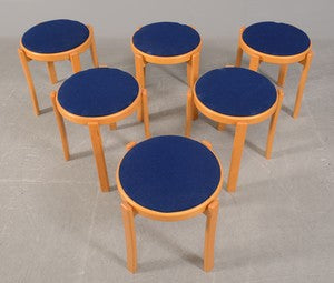 Beech Ottomans by Farstrup