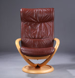 Swivel Base Reclining  Armchair and Ottoman