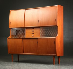 High Teak Sideboard by Poul M Jessen