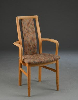 Set of four Armchairs and two Chairs in Beech