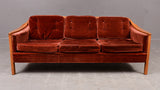 Red Plush Sofa