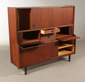 Teak High Sideboard