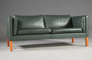 Leather Sofa by Borge Mogensen for Fredericia Stolefabrik Model 2335