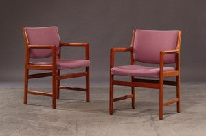 Four Teak Armchairs by Karl-Erik Ekselius for JOC.