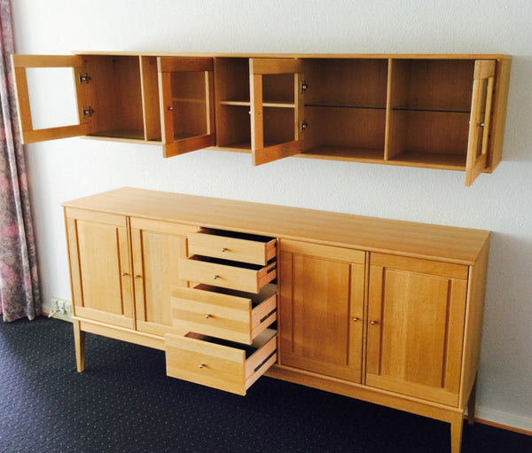 Oak Sideboard and Wall Cabinet