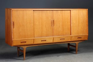 Teak sideboard by Westergards Furniture with rosewood bar section