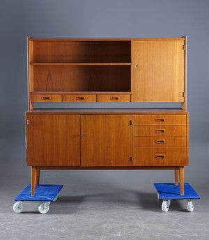 Teak sideboard and hutch