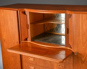 Teak Sideboard featuring Bar with Mirror