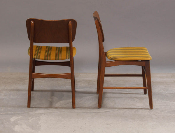 Back and Side of Ib Kofod-Larsen Style Beech Dining Chairs