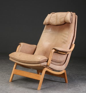 Leather Armchair by Jacob Berg