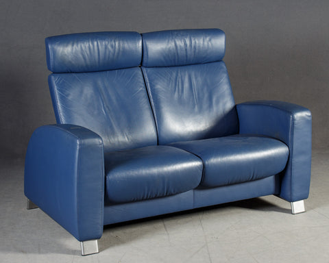 Stressless Sofa in Blue Leather
