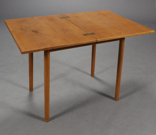 Expanded Oak Game/Dining Table by Borge Mogensen