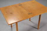 Top View of Expanded Oak Game/Dining Table by Borge Mogensen