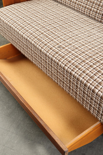 Wool Check Sofa Bed