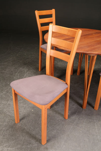Cherry-Stained Beech Dining Chairs