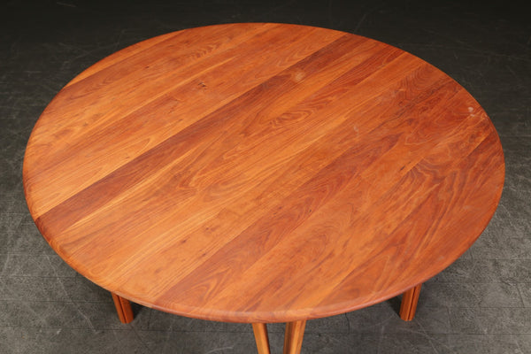 Solid Cherry Round Dining Table
