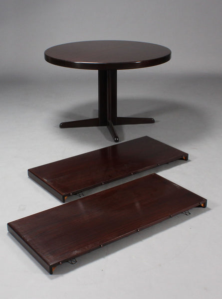 Round Mahogany Dining Table – H.W. Klein for Bramin