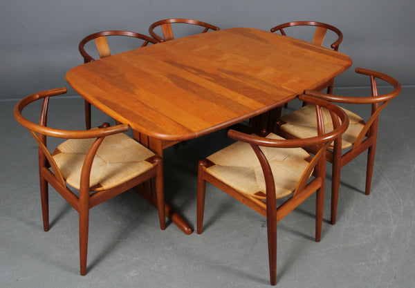 Solid Cherry Dining Table with Extension Leaves