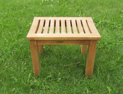 Square Solid Teak Bench