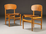 Børge Mogensen No. 122 Dining Chairs in Teak and Oak