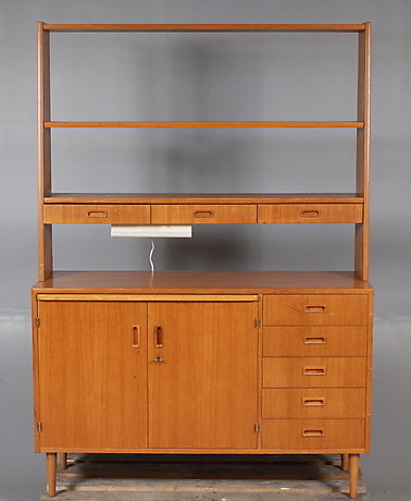 Smaller Teak Sideboard with Bookcase