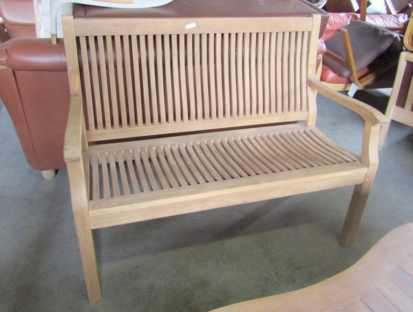 Solid Teak Outdoor Bench