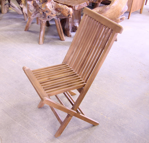 Solid Teak Outdoor Folding Chairs