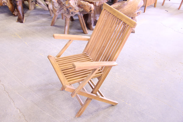 Solid Teak Outdoor Folding Armchair