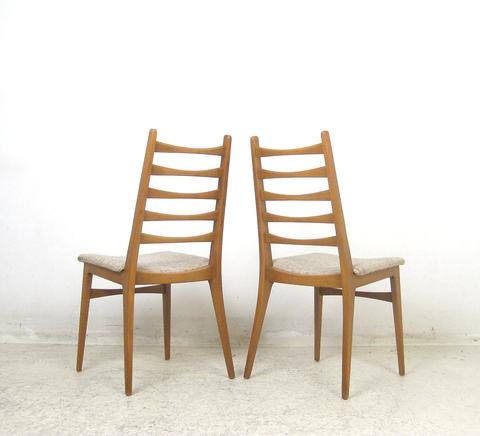 set of six Beech dining chairs, price per chair