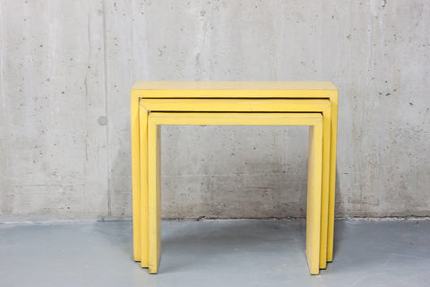 Oriental Yellow Nesting Tables