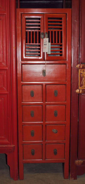 Oriental Red Narrow Cabinet