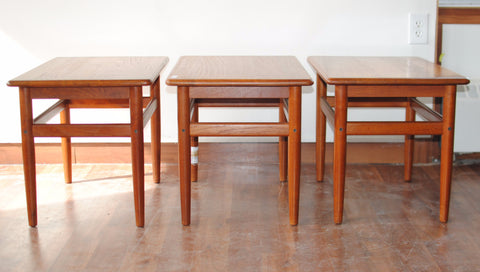 Solid Teak Side Tables