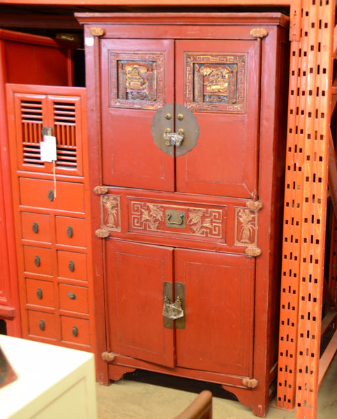 Oriental Red Cabinet