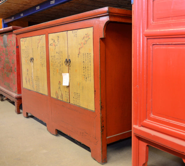 Oriental Red / Yellow Cabinet
