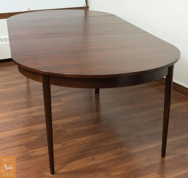 Round Rosewood Dining Table with Extensions