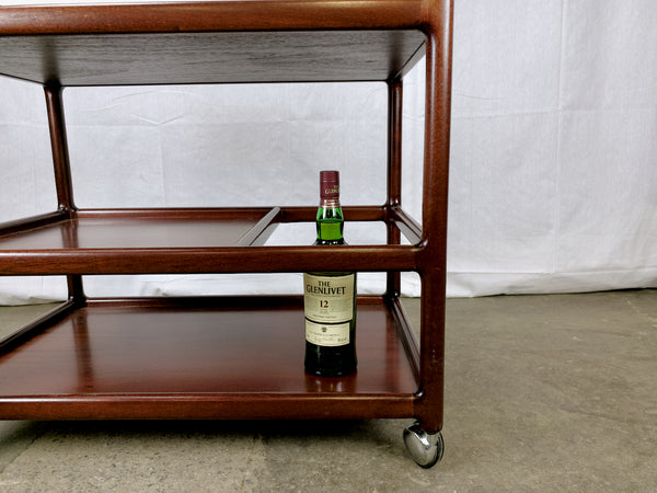 Johannes Andersen Rosewood/Mahogany Tea Trolley/Bar Cart