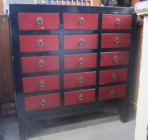 Small Red/Black Cabinet