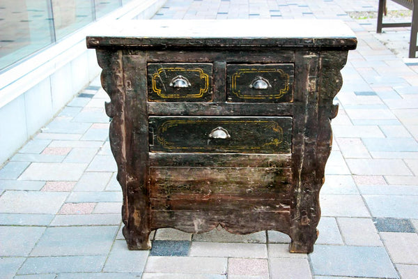 19th Century Antique Oriental Black Sideboard