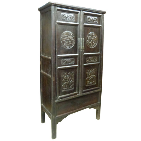 19th Century Chinese Antique Fir Cabinet