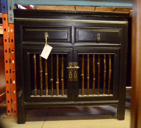 Asian Solid Wood Two Door Cabinet