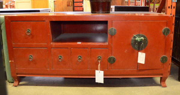 Oriental Low Red Cabinet