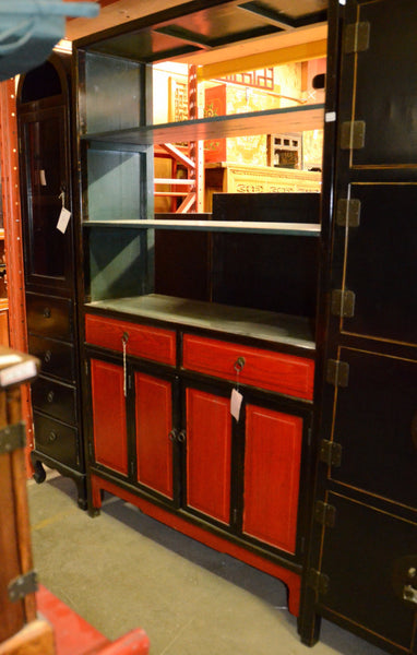 Oriental Red / Black Bookcase