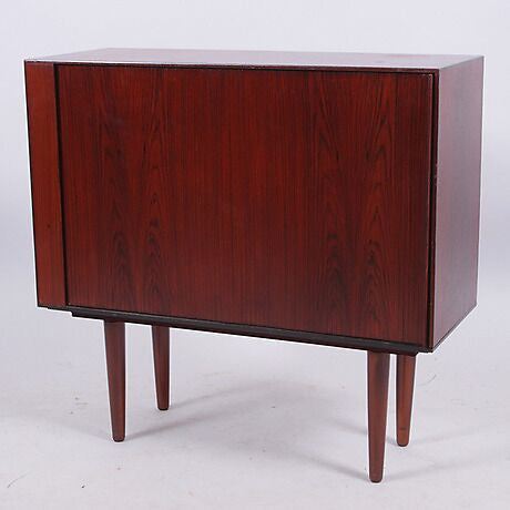 Roll-Front Rosewood Cabinet