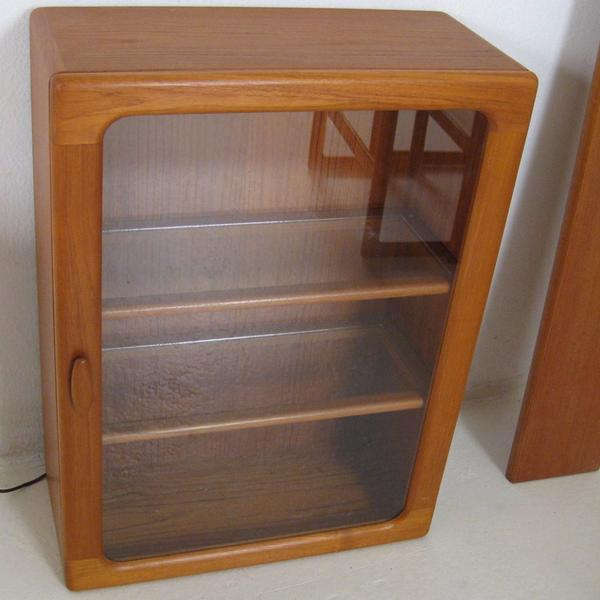 Small Teak Hutch with Glass Door